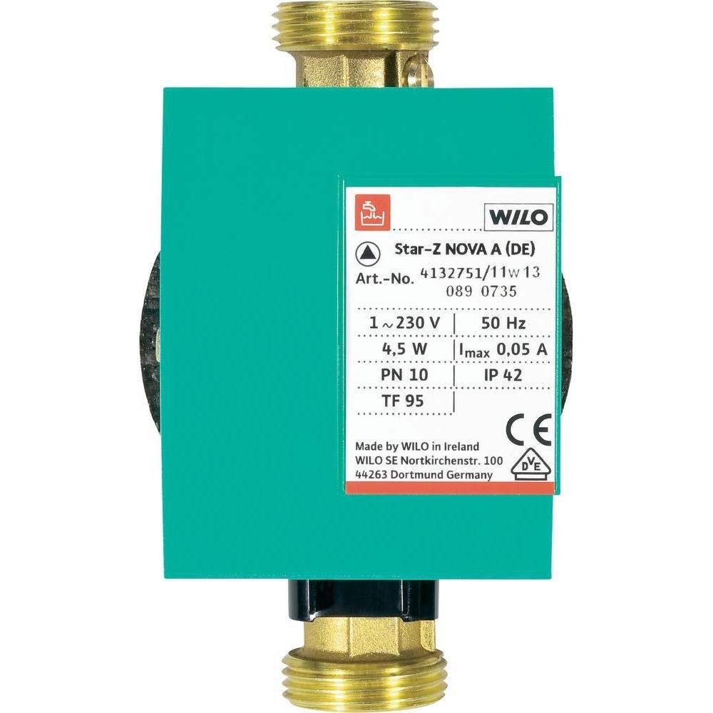 Wilo 4132751 Trinkwassser Zirkulationspumpe StarZ PN 10 NOVA A, Rp 1/2 Zoll  BaumarktKundenbewertung und Beschreibung