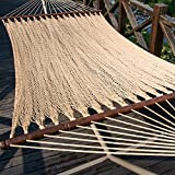Prime Garden Two Point Tight Weave Caribbean Hammock-Tan