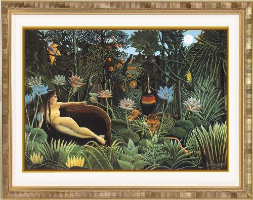 ルソー 夢 オリジナルアートポスター額 高画質 ジグリー刷 ゴールド版画額装 61x50cm