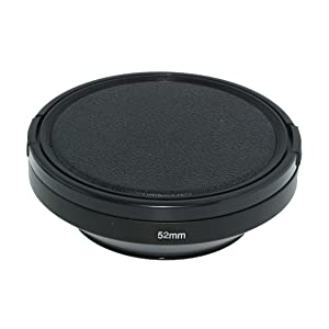 SIOTI Camera Wide Angle Metal Lens Hood with Cleaning Cloth and Lens Cap Compatible with Leica/Fuji/Nikon/Canon/Samsung Standard Thread Lens(52mm) (Color: Wide Angle, Tamaño: 52mm)