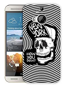 "Humor Gang Hipster Skull Art Printed Designer Mobile Back Cover For ""HTC ONE M9 PLUS"" (3D, Matte, Premium Quality Snap On Case)"
