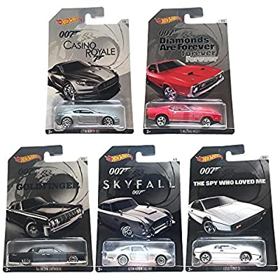 Hot Wheels James Bond 007: Complete set of 5 Diecast Cars