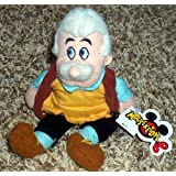 "Retired Disney Pinocchio Master Craftsman And Carpenter Father Geppetto 8"" Plush Bean Bag Doll"