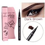 Long Lasting Waterproof Eyebrow Tattoo Pen Pencil Liner Eyebrow Makeup - Lasts Up to 7 Days! (Dark Brown) (Color: Dark Brown, Tamaño: 0.8 ml)