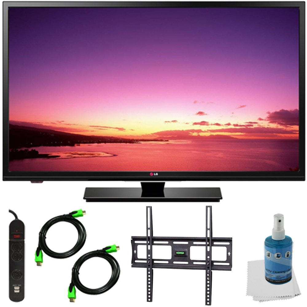 32LB520B-32-inch-HD-720p-LED-TV-Plus-Mount-and-Hook-Up-Bundle-Bundle-Includes-TV-Flat-TV-Mount-3-Outlet-Surge-protector-w-2-USB-Ports-2-6-ft-High-Speed-HDMI-Cables-Performance-TV-LCD-Screen-Cleaning-Kit-and-Cleaning-Cloth-