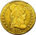 1803 P $5 Early Gold (1795-1838) 1803/2 Five Dollar MS62 PCGS