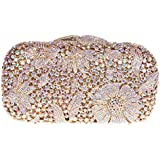 Fawziya® Bling Flower Evening Purse Cocktail Crystal Evening Clutch Bags