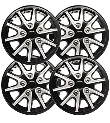 Aumo-mate 4pcs ,Universal 14 inch ,Car Hub Caps Rim Wheel Covers Hub Cap Decorative