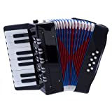 D'Luca G104-BK Kids Piano Accordion 17 Keys 8 Bass, Black (Color: Black)