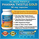 Nutrigold Pharma Thistle GOLD, 30 to 70:1 Extract (Pharmaceutical Grade Liver Support Supplement) , 175 mg, 90 veg.capsules