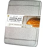 "100% Stainless Steel Cooling Rack for Baking by Ultra Cuisine 10""x15"" fits Jelly Roll Pan, Heavy Duty Wire Grid Oven Safe for Roasting Cooking Grilling"