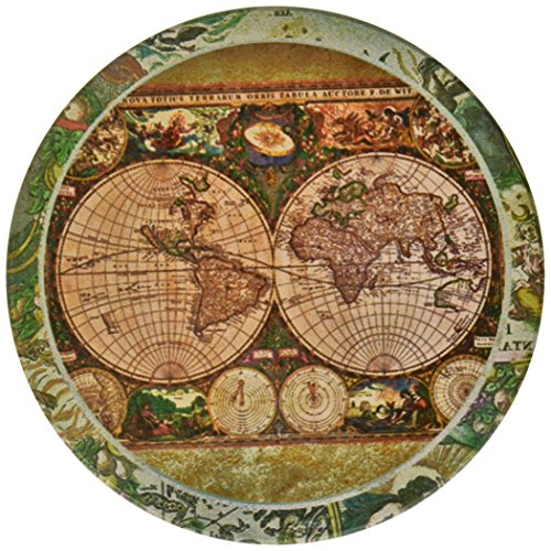 CoasterStone-AS285-Absorbent-Coasters-4-14-Inch-Old-World-Maps-Set-of-4