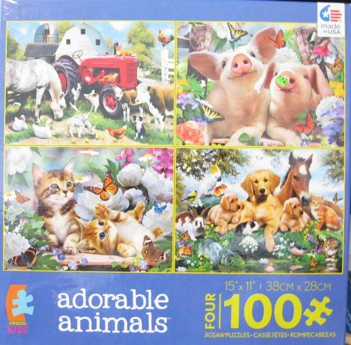 Ceaco 4-in-1 Adorable Animals Jigsaw Puzzle