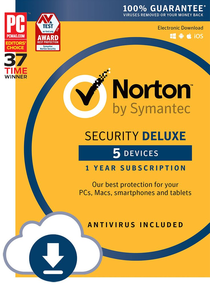 Norton Security Deluxe - 5 Devices | PC/Mac Online Code (Online Code)