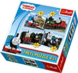 Trefl 4-in-1 Puzzle Friends From Sodor Island Thomas and Friends