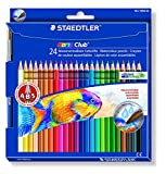 STAEDTLER Noris Club 144 - Caja con 24 l�pices acuarelables, multicolor