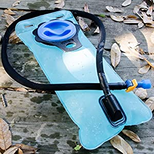 Aquatic Way Hydration Bladder Water Reservoir Pack for 2 liter 2L Backpack System (Bicycling Camping Hiking). FDA Approved Non Toxic BPA Free Strong Material, Easy to Clean Large Opening, Quick Release Insulated Tube with Shutoff Valve. Stay Hydrated!