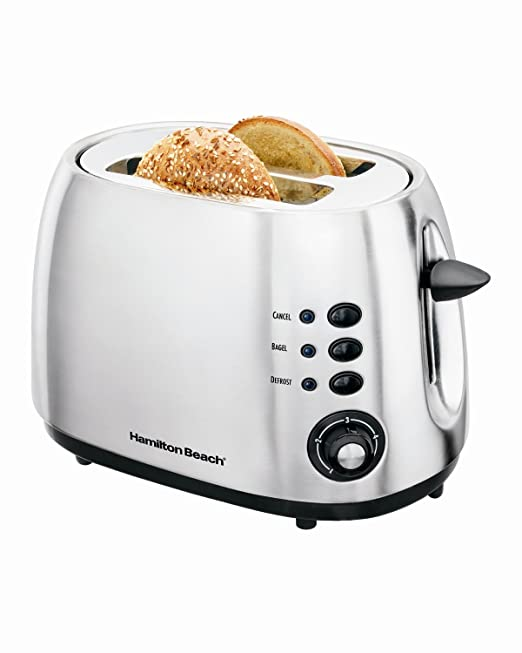 Hamilton Beach Brushed Metal 2 Slice Toaster: Amazon.ca: Kitchen & Dining