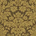 Waverly 5511947 Waverly Damask Wallpaper, Tobacco Brown, 20.5-Inch Wide