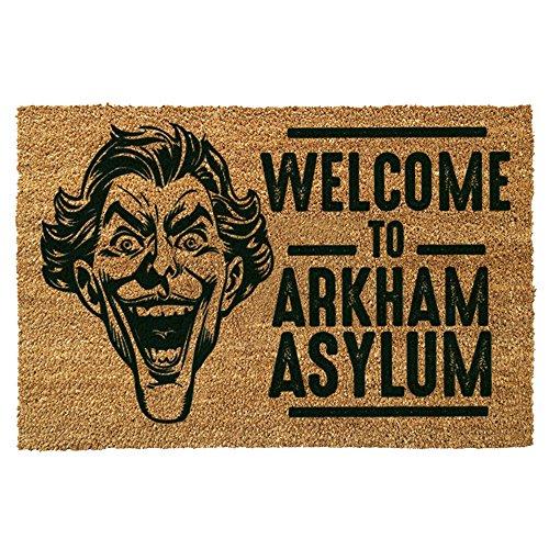 """The Joker """"Welcome To Arkham Asylum""""-Tappetino per ingresso, in fibra di cocco, colore: multicolore"""