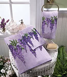 Wisteria Purple Bath Towels By Collections Etc