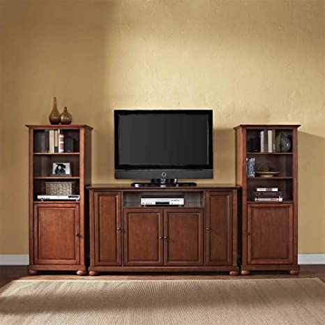 Crosley Alexandria 60 in. TV Stand and Two 60 in. Media Piers