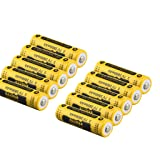 Kuerqi AA Li-ion Rechargeable Battery, 10 Pieces/Pack 3.7V 2800mAh High Capacity 14500 Lithium Betteries for Flashlights, Alarm Clocks, Remote Controls and More, Long Lasting, Packaging May Vary (Color: 10-pack)