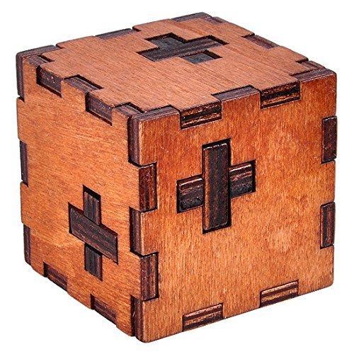 KINGOU Wooden Switzerland Cubic Logic Puzzle Burr Puzzles Brain Teaser Intellectual Toy Magic Cube - 1
