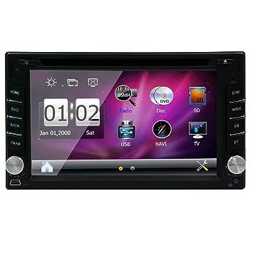 GPS Subwoofer Pupug Navegaciš®n 2 Din d'šŠcran LCD 6,2 pulgadas d'šŠcran tš¢ctil numšŠrique de Radio EstšŠreo auto coches Lecteur DVD en el tablero en el tablero de Gps Navigat