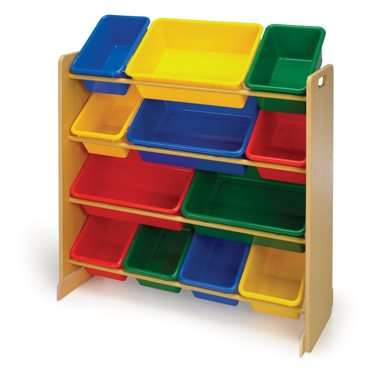 ... Bins, Primary Colors. Useful 4-tier toy organizer from Tot tutors;  great for containing blocks, crayons, toy trucks, dolls, and more ... - Tot Tutors Kids Toy Organizer With Storage Bins, Primary Colors