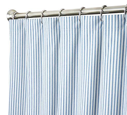 Extra Long Shower Curtain Unique Designer Fabric Blue