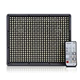 2014 Newest Aputure® Amaran HR672W CRI95+ 672 LEDs Video Light DV Lamp with 2.4G FSK Wireless Remote for Nikon Canon Digital Camera Video Camcorder+2X Lithium F970 battery+Orange & White Diffusion Filters
