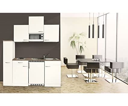 Respekta KB180WWMI Kitchen Unit 180 cm White with Microwave