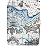 JGOO World Map Series Cover Case for Amazon 2013 & 2012 New Kindle Paperwhite 6