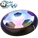 Gloween Kids Toys, Hover Soccer Ball Air Power Disc for Boys and Girls Age of 2,3,4,5,6,7,8+Years Old, Indoor Sport Ball with Led Lights for Toddlers, Kids,Children Gifts