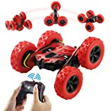 Terresa Remote Control Car - 1/28 Scale 2.4Ghz Stunt Car, 360 Degree Rotating Off Road Electric Race Double Side RC Cars as Xmas Christmas New Year Gifts for Kids