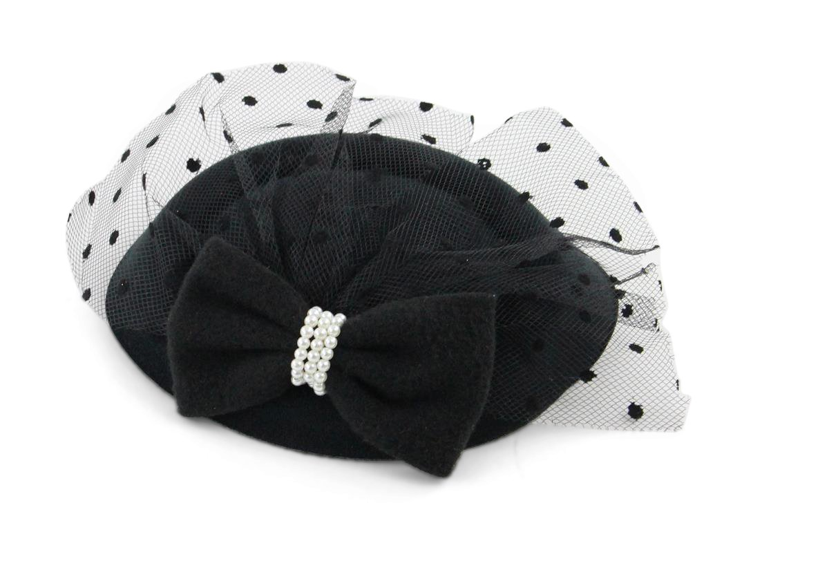 The Kate Pillbox Fascinator Hat with Hair Clip for Women 1