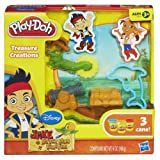 Play-Doh Treasure Creations Set Featuring Jake and the Never Land Pirates Toy, Kids, Play, Children