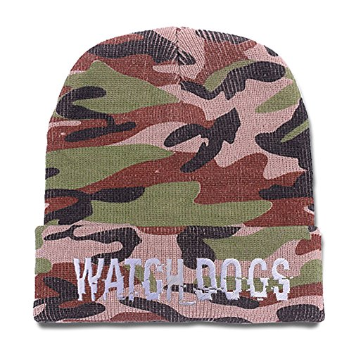 JXJ-Watch-Dogs-Game-Camo-Beanie-Embroidery-Camo-Knit-Cap-Skull-Hat