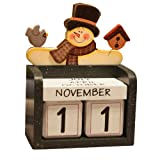 MyLifeUNIT DIY Perpetual Calendar Desk, Four Season Wooden Cubes Calendar for Home Office Shop Decoration (Color: Black, White, Tamaño: 4.7 inch*3.5 inch*3.5 inch)