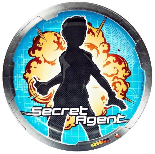 Secret Agent Dinner Plates (8)