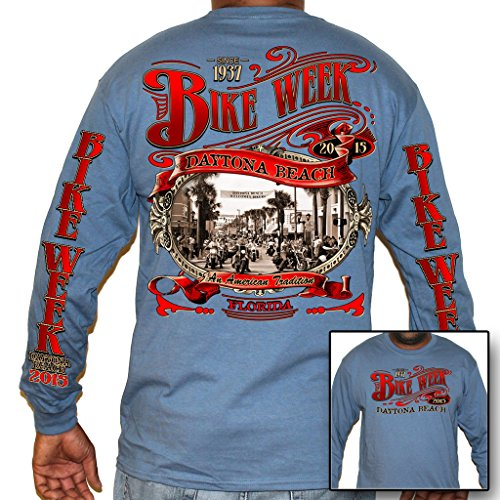 Biker Life USA Men's 2015 Bike Week Main Street Long Sleeve Shirts