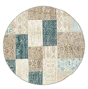patchwork auckland teppich 150 moderner rund teppich. Black Bedroom Furniture Sets. Home Design Ideas