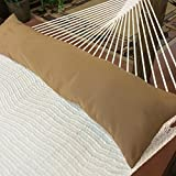 Double Hammock Pillow - 50 x 12 inches - combo brown - olefin polyester