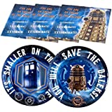 Doctor Who Birthday Party Supplies Set Large Plates & Napkins Kit for 12
