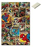 Bundle - 2 Items - Marvel Spider-Man Comic Covers Poster - 91.5 x 61cms (36 x 24 Inches) and Small Block Of White Tack