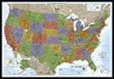 United States Decorator [Enlarged and Laminated] (National Geographic Reference Map)