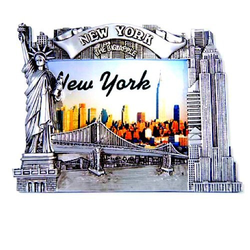 New York Picture Frame -Poly Silver, New York Picture Frames, New York Souvenirs (New York Picture Frame compare prices)