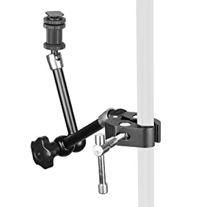 ChromLives 11 Magic Arm Clamp 11 Inch Articulating Friction Magic Arm with Super Clamp Rod Plier Clip with 1/4 3/8 Thread for DSLR Camera Rig/LCD Monitor/LED Lights/Flash Light (Tamaño: Magic Arm(stainless steel)+Super Clamp)