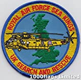 Royal Air Force RAF Search and Rescue Sea Kings Embroidered Badge Patch